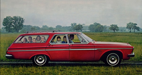 Plymouth 1963 wagon kids