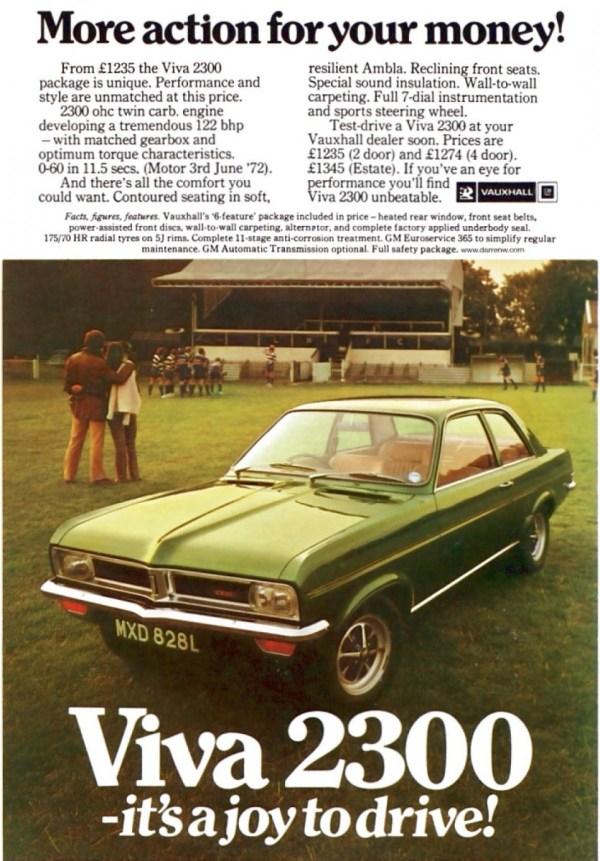 vauxhallviva2300advert1973