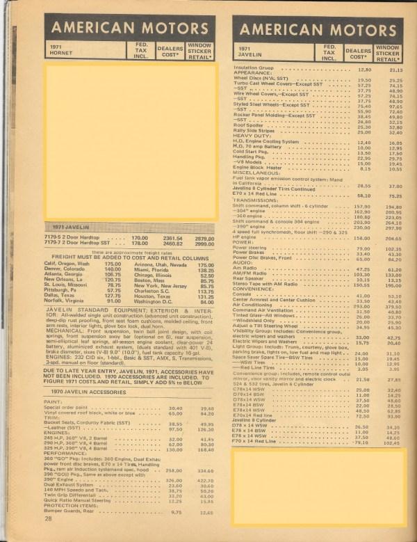 1971JavelinPricesP1