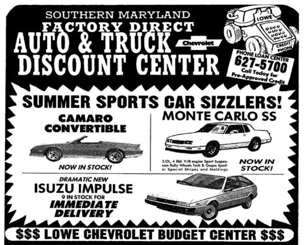 1983 Newspaper Ad July