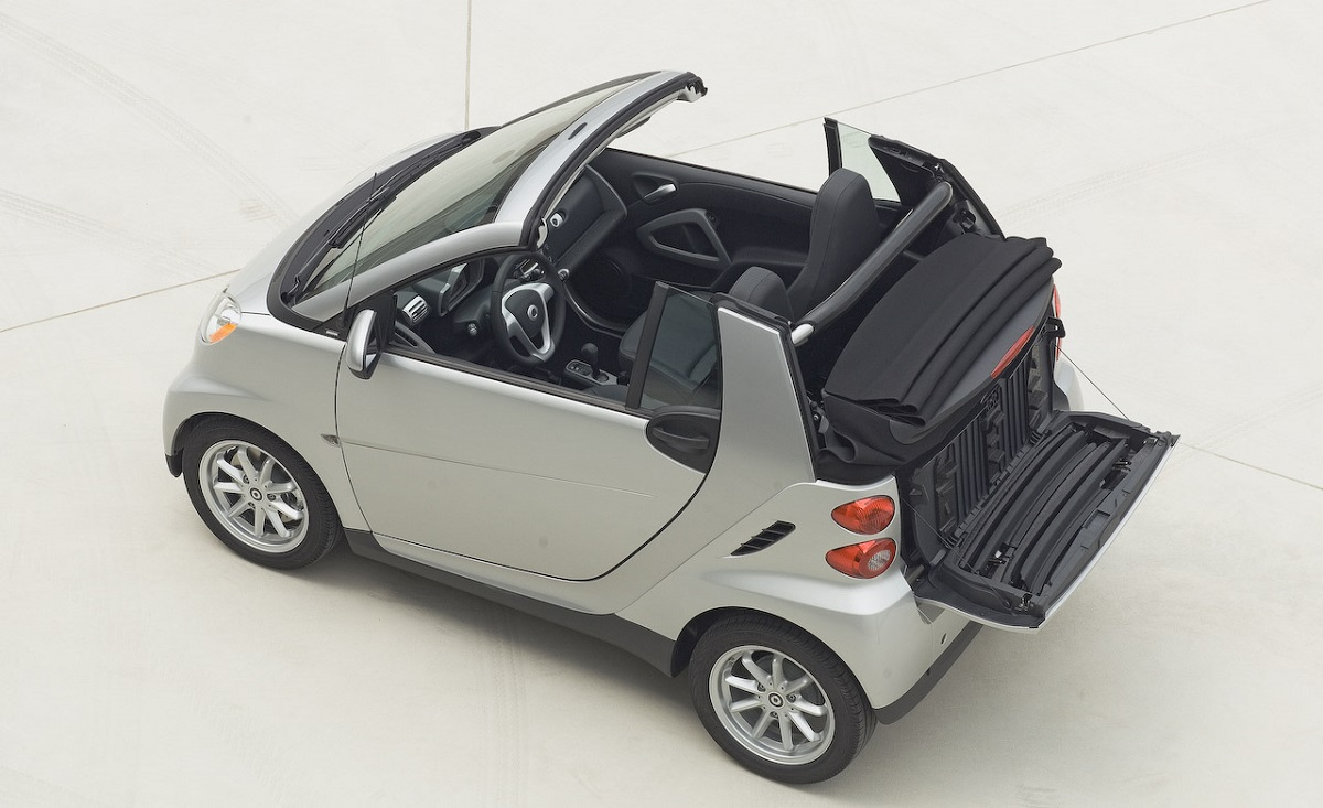coal 2008 smart fortwo passion cabrio a small car with a passion for the open road. Black Bedroom Furniture Sets. Home Design Ideas
