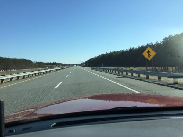 On the highway in La Belle Provance