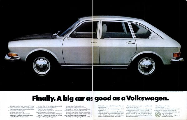 1971 Volkswagen 411 Ad Big Car