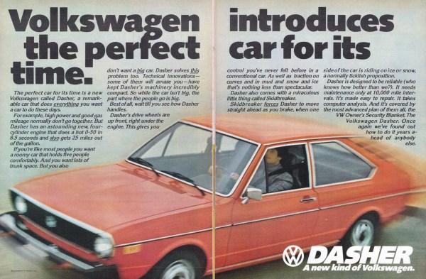 1974 Volkswagen Dasher Ad