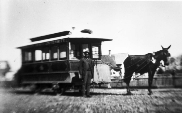 Eugene mule trolley Wiley Griffon 1893