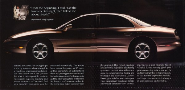 1995 Oldsmobile Aurora ad