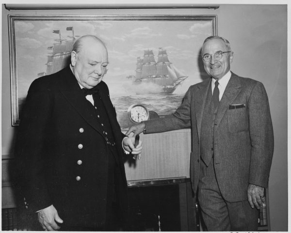 Photograph_of_President_Truman_and_British_Prime_Minister_Winston_Churchill_aboard_the_President's_yacht,_the_U.S.S...._-_NARA_-_199012
