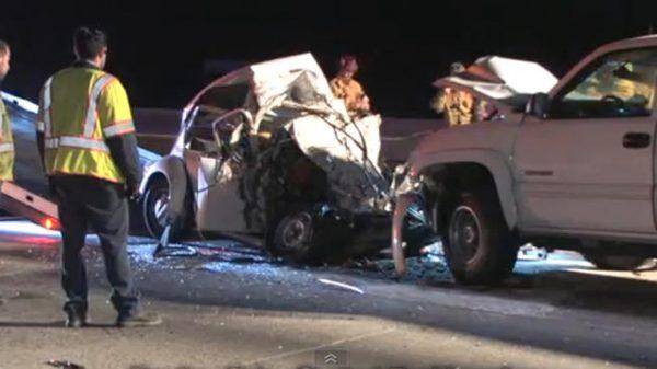 VW Beetle crash