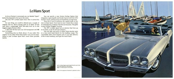 1971 Pontaic LeMans Sport brochure CC