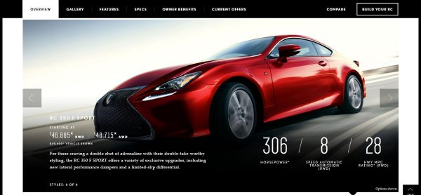 2016 Lexus RC Luxury Sport Sedan Lexus USA