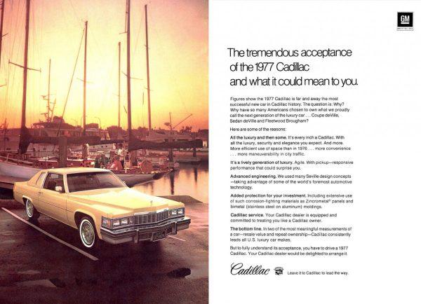 Ad 1977 Cadillac