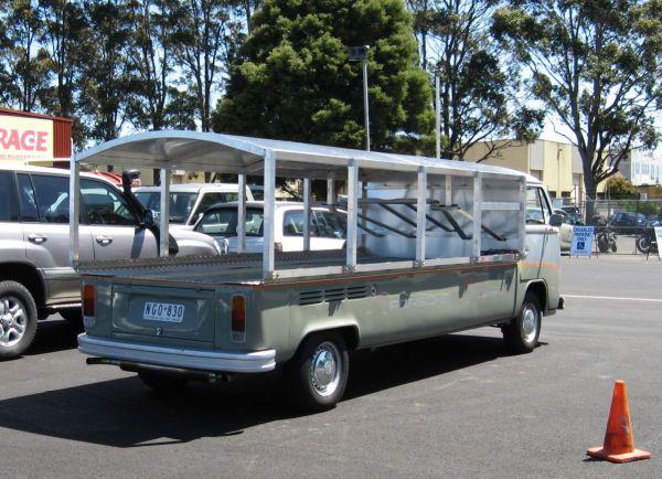 VW race transporter rear