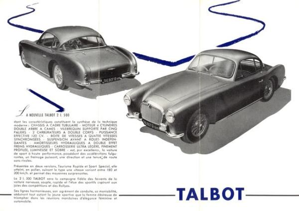 The Talbot-Lago 2500 T14 LS: same same, but smaller. Talbots were only available as two-seaters from then on, all with a factory body.