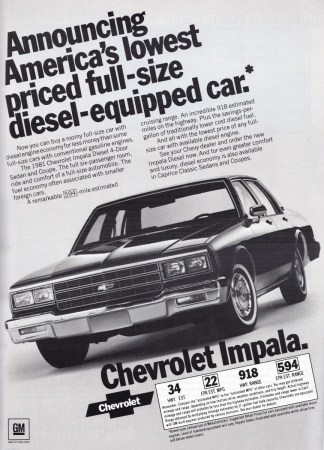 Ad 1981 Chevrolet Impala Diesel 2