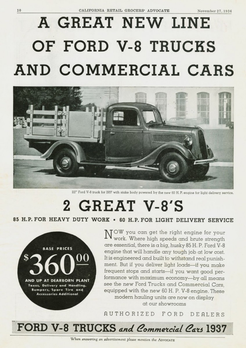 The Little Engines That Could Part 1 1941 1942 Ford 30 Hp Four 2 Ton Pick Up 1937 Truck Ad 01