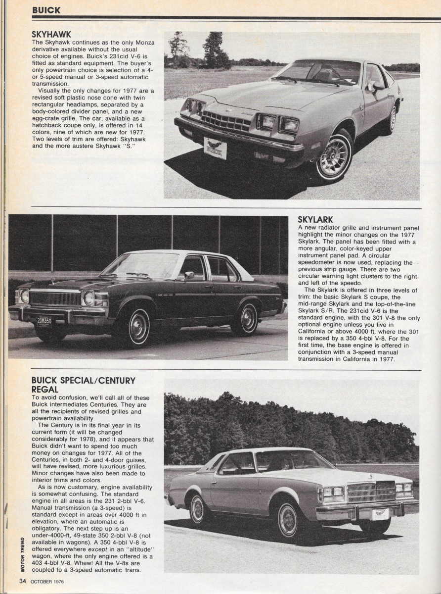 Vintage Reviews: Motor Trend's 1977 New Car Issue – General Motors