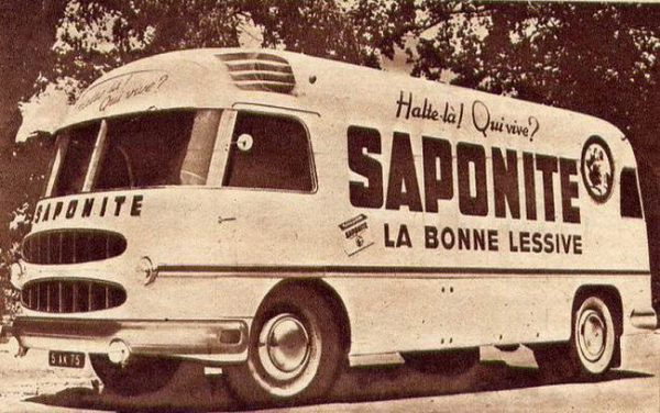 1952 publicity truck for a laundry detergent brand on a Delahaye 163 L chassis, body by Heuliez.