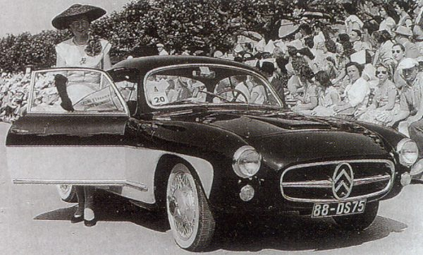 Citroën 2CV coupé designed in 1955 – two were made by Pacaud, a small provincial firm