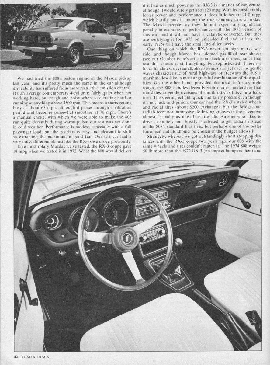 Vintage Review: R&T Tests The Mazda 808 Coupe – Pistons To The Rescue