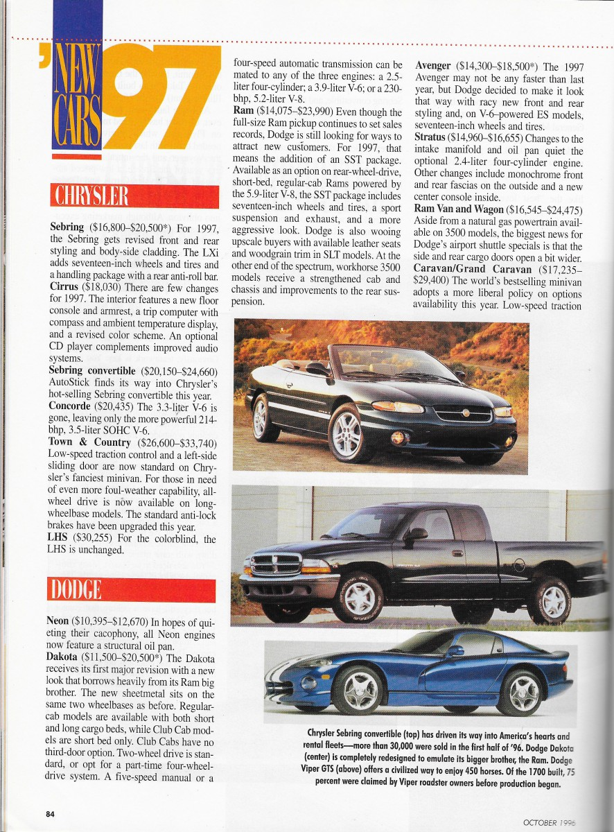 Chrysler magazine user manuals array vintage reviews automobile magazine 1997 new car issue u2013 chrysler rh curbsideclassic com fandeluxe Gallery
