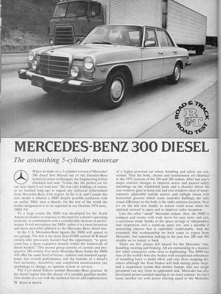 """Vintage Review: 1975 Mercedes 300D – """"The Astonishing 5-Cylinder"""