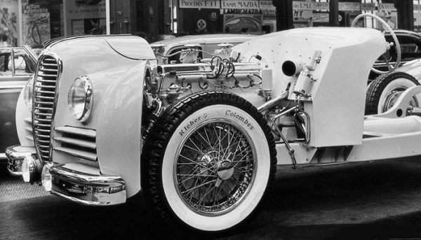 The Delahaye 4.5 litre chassis as it appeared at the 1946 Paris Auto Show.