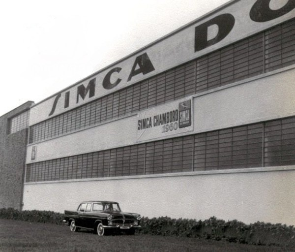 Launching the Chambord in Brazil at the São Bernardo do Campo factory, 1960.
