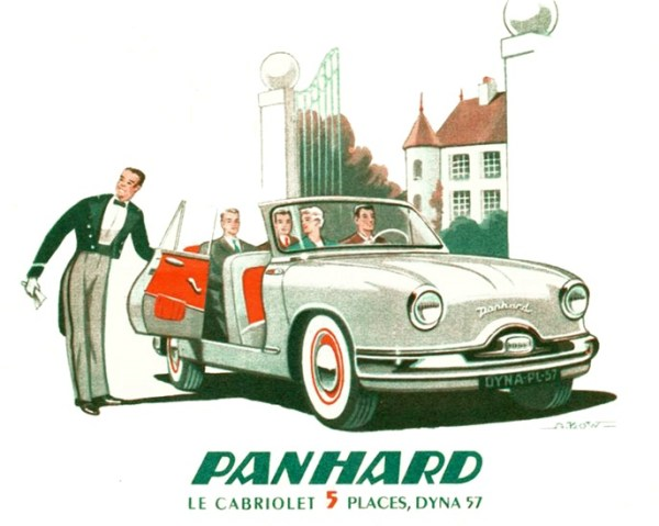 Panhard launched a two-door Dyna convertible in 1957, followed by a light truck (1959) and a four-door wagon (1963).