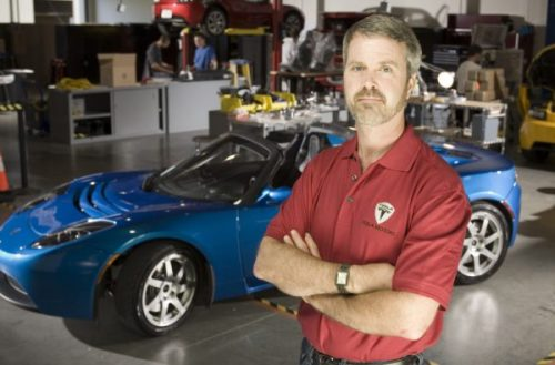 Mar 07, 2008 - San Carlos, California, USA - Tesla Motors CEO, MARTIN EBERHARD, 47, is photographed with several Tesla Roadster prototypes at the company's San Carlos, CA facility. PICTURED: July 17, 2007. (Credit Image: © Martin Klimek/ZUMA Press)