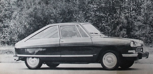 The peculiar Citroën M35 had a Comotor engine; about 270 were built by Heuliez in 1969-71.