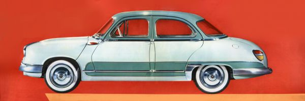 """The 1959 Dyna Z """"Grand Standing"""" with two-tone paint and bulging rear lights."""