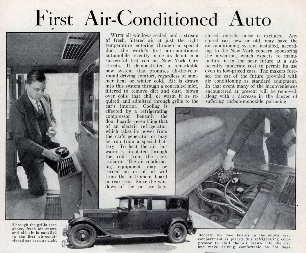 cold comfort: history of automotive air conditioning, part 1 – pre
