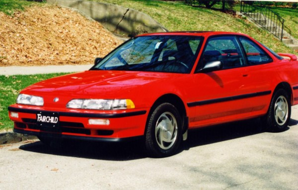 1991 Acura Integra GS, my first new car, on the day I bought it.