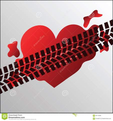 run-over-heart-vector-illustration-56775395