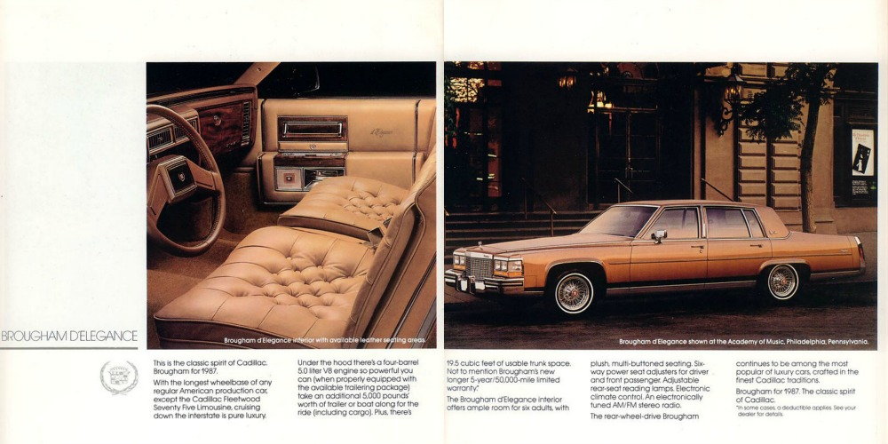In-Motion Classic: 1987 Cadillac Brougham – Vintage Things