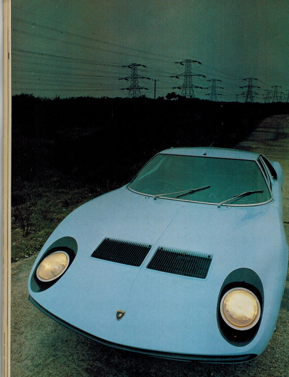 vintage car review lamborghini miura the first and only modern transverse 12 cylinder supercar