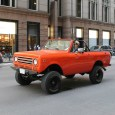 Many vintage cars and trucks have resurfaced with the warmer, spring weather in Chicago, lately, as if in a swarm.  This early Scout II (a 1971 or '72 model, identifiable […]