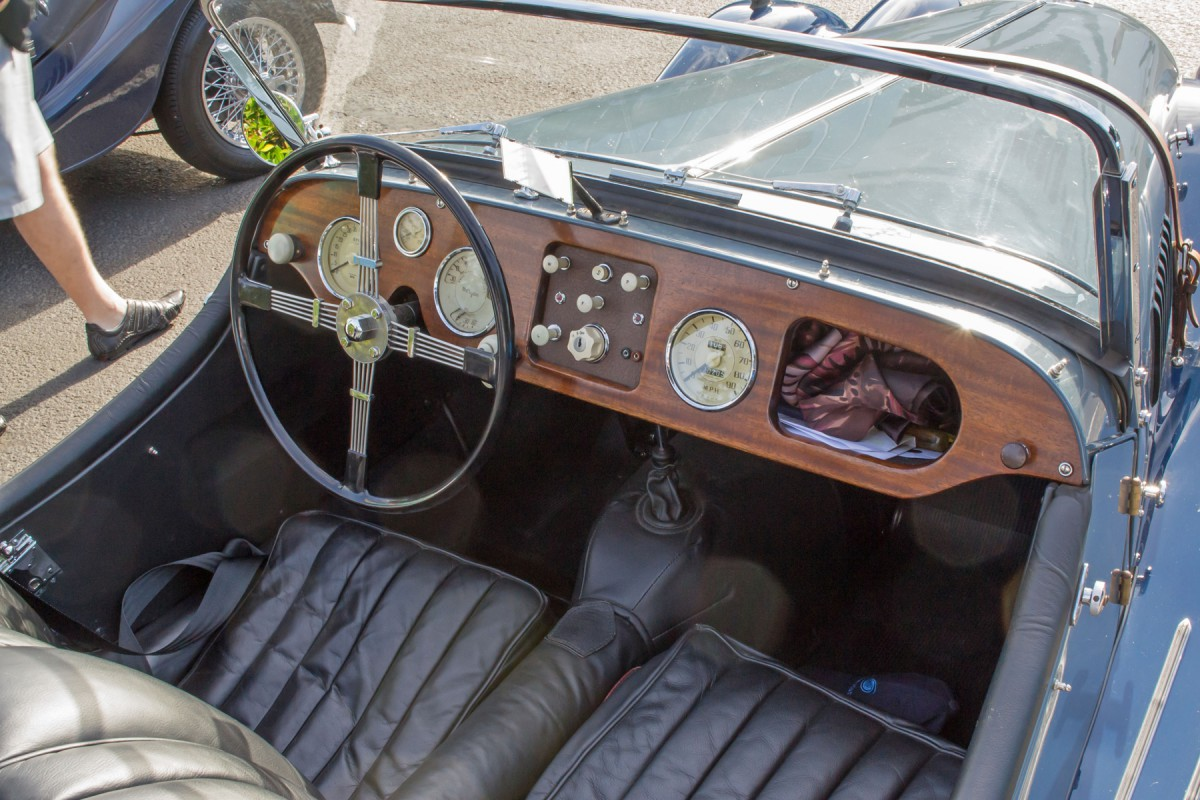 Car Show Behind The Wheel Classic Sports Car Interiors