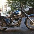 The sun was beginning to set when I saw this classic Triumph Bonneville. Back in my day custom motorcycles were made, not purchased like consumer goods. This bike looks like […]