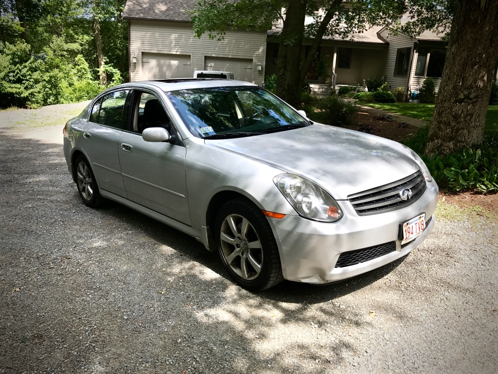 Ccdriving impressions 2006 infiniti g35x to infiniti and beyond infiniti g35x sedan due to arranging for the installation of white bonnet stripes on her like new 7000 mile certified pre owned 2015 countryman vanachro Choice Image
