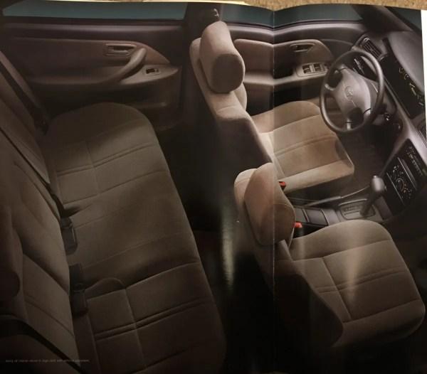 1997 Toyota Camry sage interior