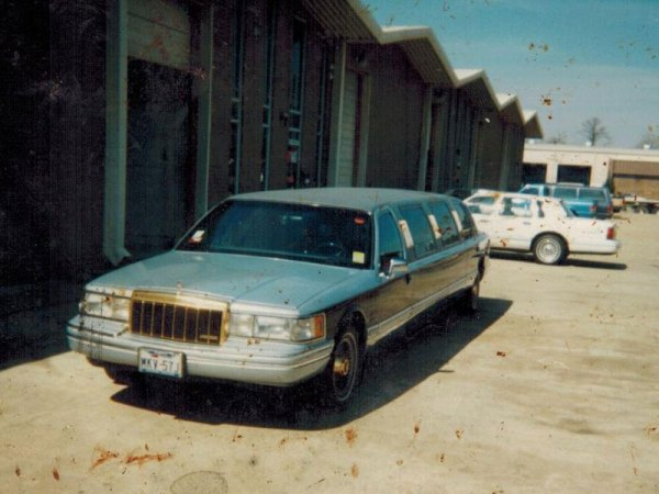 Dad's Town Car, behind the 5 door limo