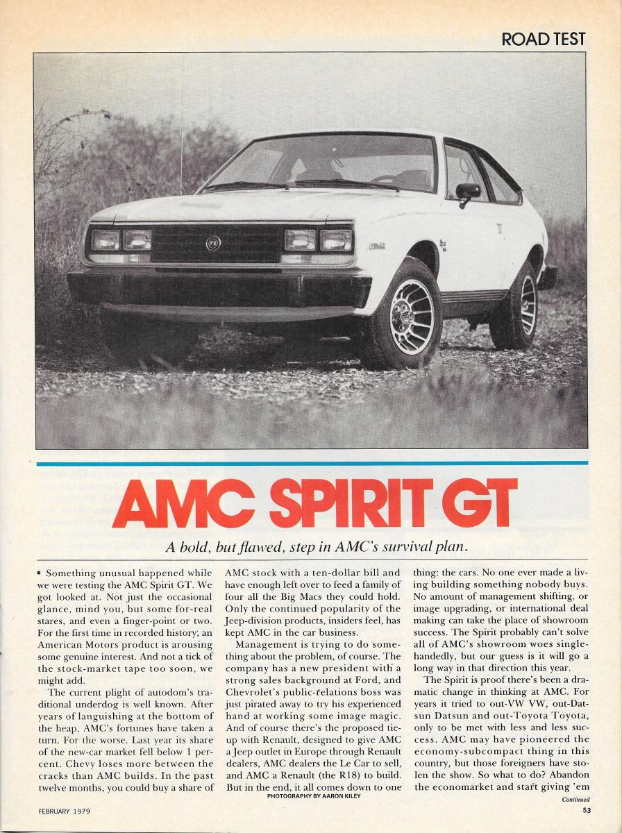 Vintage Review: 1979 AMC Spirit GT – Desperately Seeking