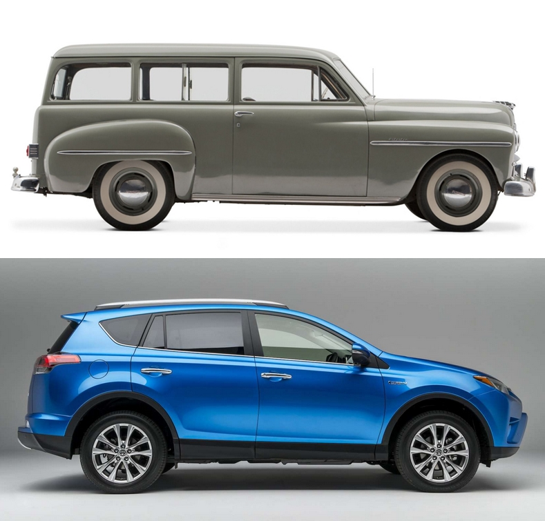 Cc Comparison 1949 Plymouth Suburban Wagon And 2017 Toyota Rav4