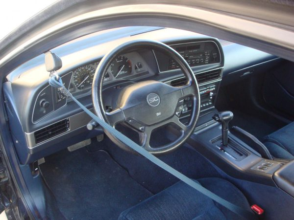1989 Tbird Super Coupe interior