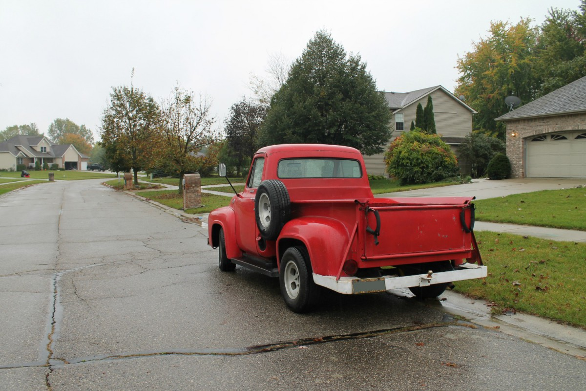 Curbside Capsule 1955 Ford F 100 Paging Fred Sanford F100 Pick Up St Louis Ive Made Reference Before In A Previous Piece That There Have Always Been And Still Are Lot Of Old Pickup Trucks On The Streets Flint Area