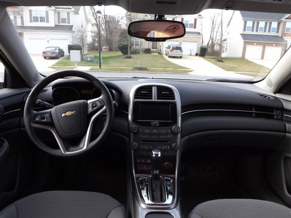 2013 Chevy Malibu interior and dash
