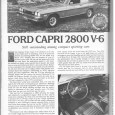 The Capri, especially with the V6, was a real bright spot on the market in its early days; it was even the number 2 selling import at one time. The […]
