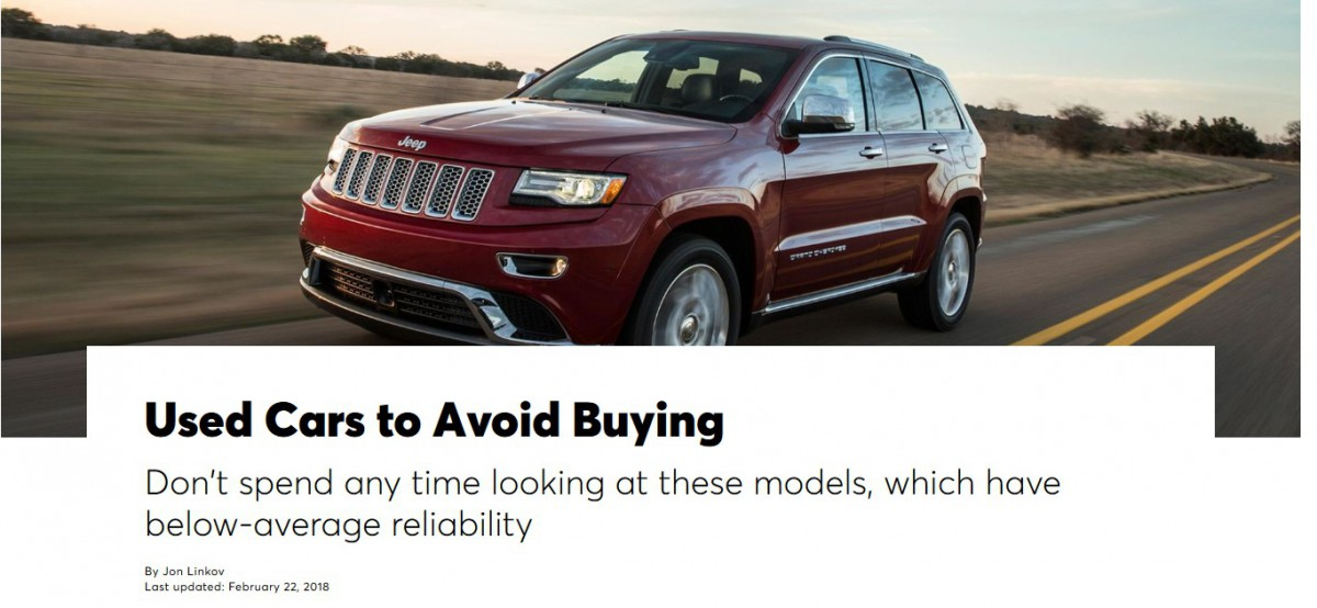 Looking For A Used Car Consumer Reports Recommends Shoppers Stay Away From 108 Models Curbside Classic