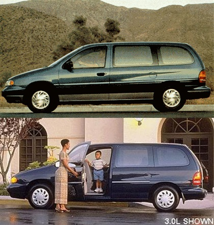 In Motion Outtake 1998 Ford Windstar Long Live The King Door Curbside Classic